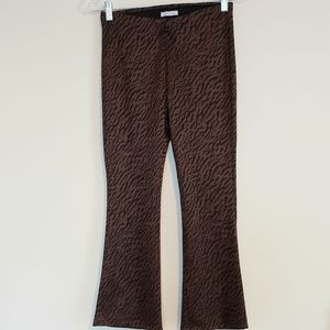 ZARA ANIMAL PRINT PULL ON PANTS SZ M